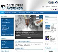 Создание сайта для металло обрабатывающей компании