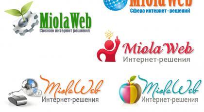 Разработка логотипа для студии MiolaWeb