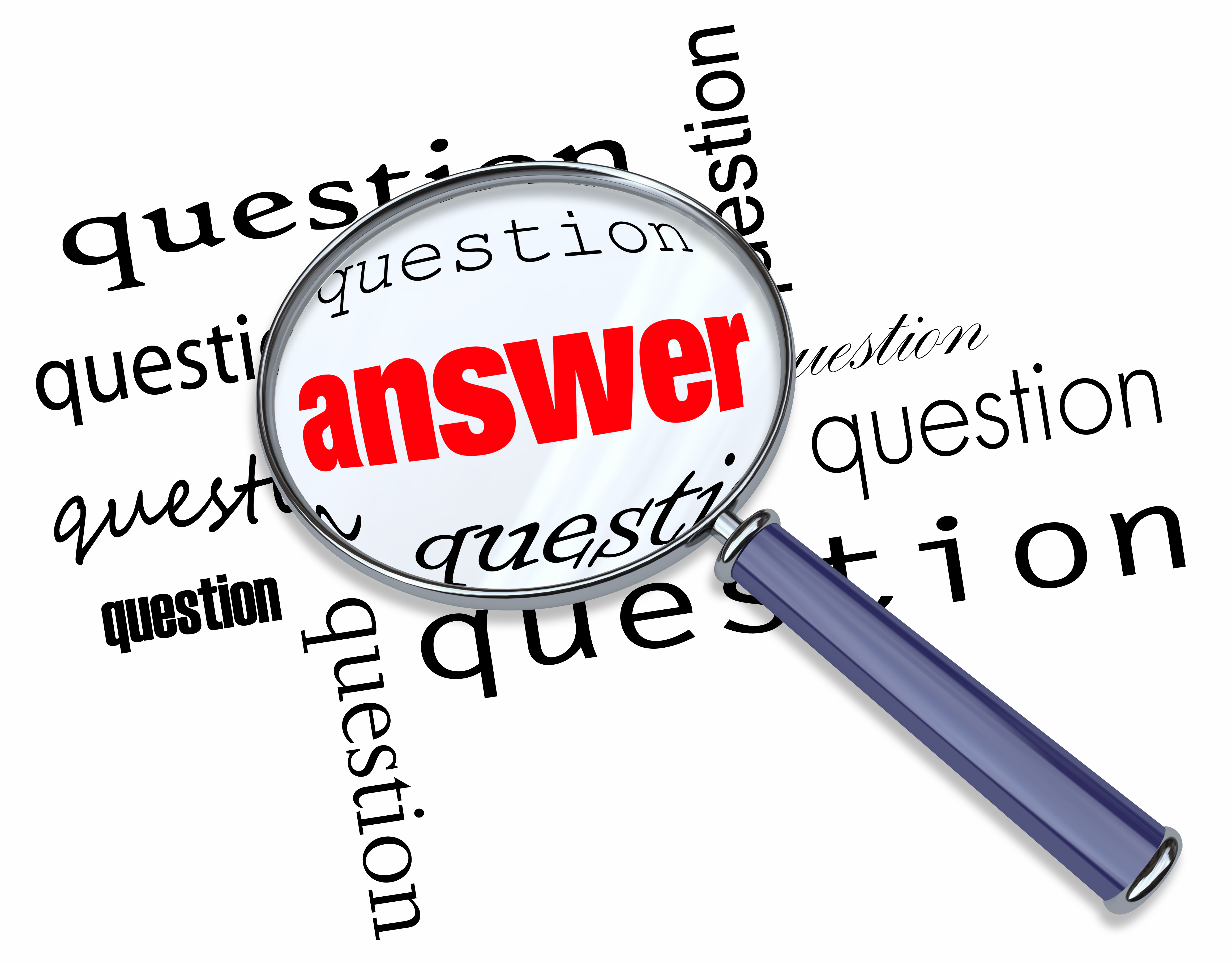 answer key for questions on the