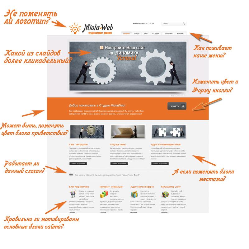 Анализ и тестирование сайта с помощью Google Website Optimizer