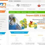 Создание ЗОО интернет-магазина